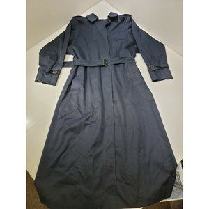 Vintage Burberry Navy Blue Trench Coat w/ Removabl